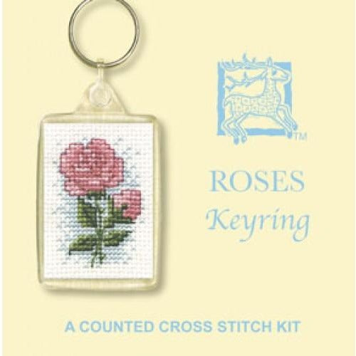 Textile Heritage Roses Keyring Cross Stitch Kit