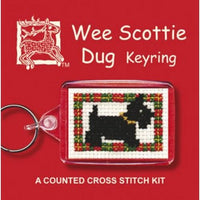Textile Heritage Wee Scottie Dug (Dog) Keyring Cross Stitch Kit