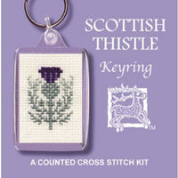 Textile Heritage Scottish Thistle Keyring Cross Stitch Kit