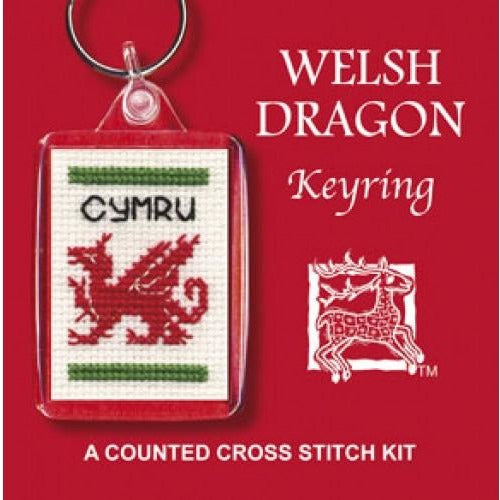 Textile Heritage Welsh Dragon Keyring Cross Stitch Kit