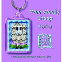 Textile Heritage Wee Wooly Sheep Keyring Cross Stitch Kit