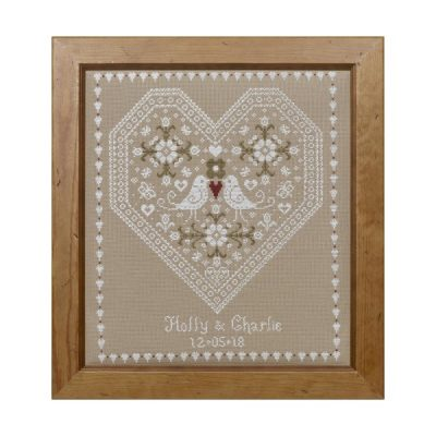 Love Birds Wedding Sampler Cross Stitch Pattern