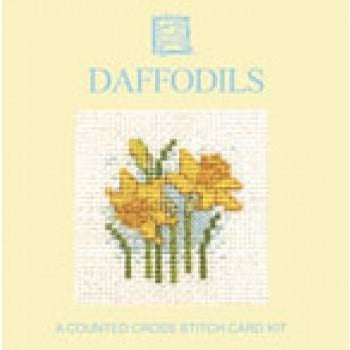 Textile Heritage Daffodils Miniature Card Cross Stitch Kit