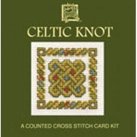 Textile Heritage Celtic Knot Miniature Card Cross Stitch Kit