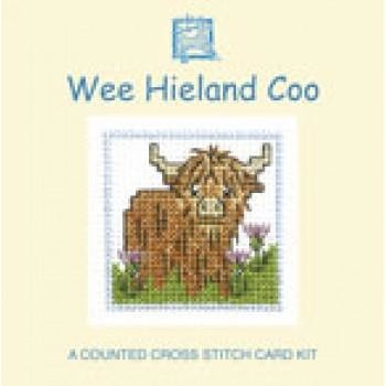 Textile Heritage Wee Heiland Coo Miniature Card Cross Stitch Kit