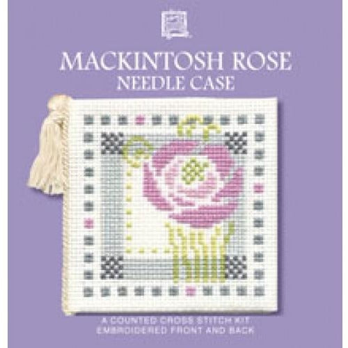 Textile Heritage Mackintosh Rose Needle Case Cross Stitch Kit