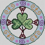 Artists Alley March Shamrock Cross Stitch Pattern