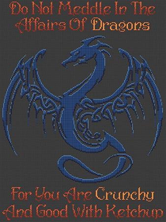 Artists Alley Meddle Dragons Cross Stitch Pattern