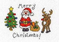 Bothy Threads Christmas Card - Merry Christmas Cross Stitch Kit