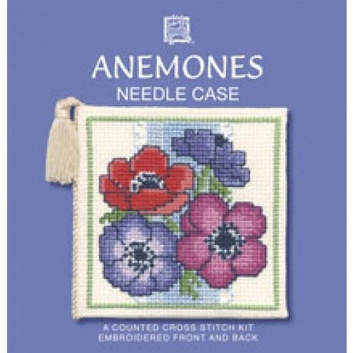 Textile Heritage Anemones Needle Case Cross Stitch Kit