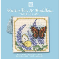 Textile Heritage Butterflies & Buddleia Needle Case Cross Stitch Kit