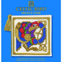 Textile Heritage Celtic Bird Needle Case Cross Stitch Kit
