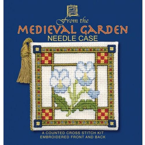 Textile Heritage Medieval Garden Needle Case Cross Stitch Kit