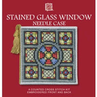 Textile Heritage Stained Glass Window Needle Case Cross Stitch Kit