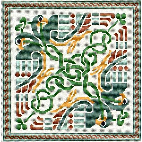 Celtic Birds Cross Stitch Pattern