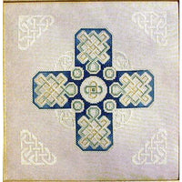 Celtic Winter Cross  - Cross Stitch Pattern