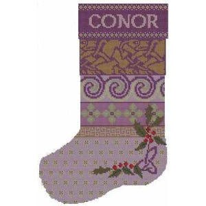 Celtic Obsessions Celtic Christmas Stocking Name Cross Stitch Pattern