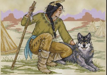 Joan Elliott Native American Brave Cross Stitch Pattern
