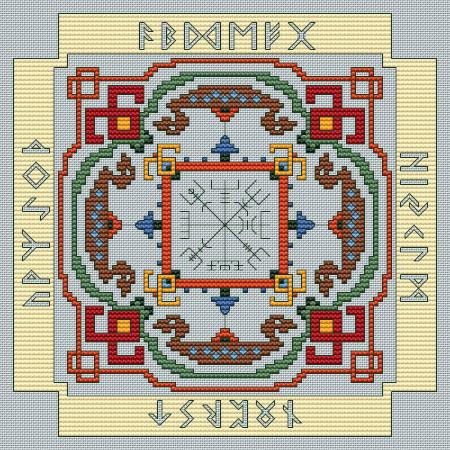 Artists Alley Norse Sampler Cross Stitch Pattern