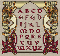 Artists Alley Norse Script Cross Stitch Pattern