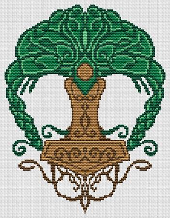 Artists Alley Norse Tree of Life Cross Stitch Pattern