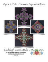Claddagh Cross Stitch - Opus 4 Celtic Crosses, Byzantine Flare - Cross Stitch Pattern