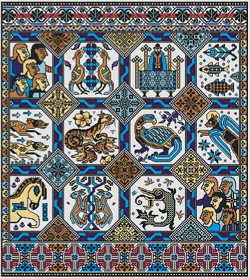 Long Dog Samplers Opus Magnusson Cross Stitch Pattern