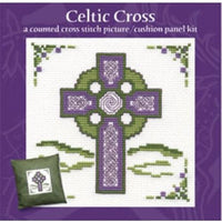 Textile Heritage Celtic Cross Cushion Panel Picture Cross stitch Kit