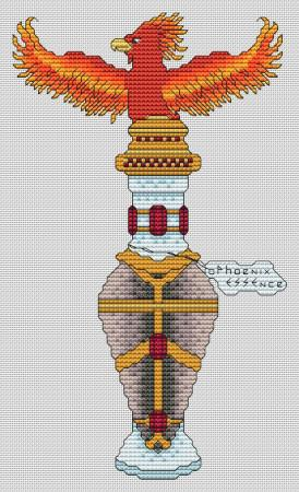 Artists Alley Potions: Phoenix Essence Cross Stitch Pattern