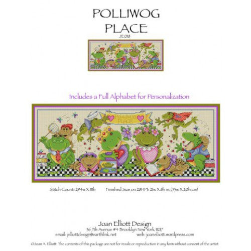 Joan Elliott Polliwog Place Cross Stitch Pattern