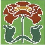 Landmark Tapestries & Charts Arts & Crafts Poppy Pincushion Cross Stitch Pattern