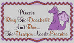 Artists Alley Deny Dragons Cross Stitch Pattern
