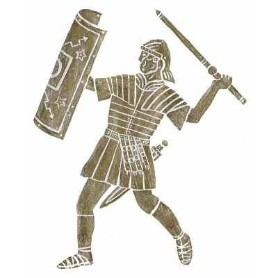Brass Rubbing Kit Roman Legionary