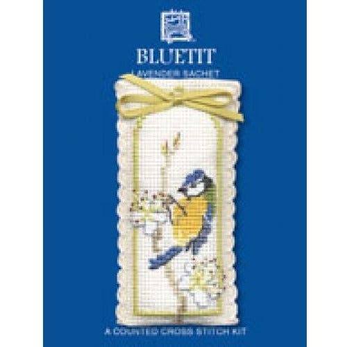 Textile Heritage Bluetit Lavender Sachet Cross Stitch Kit