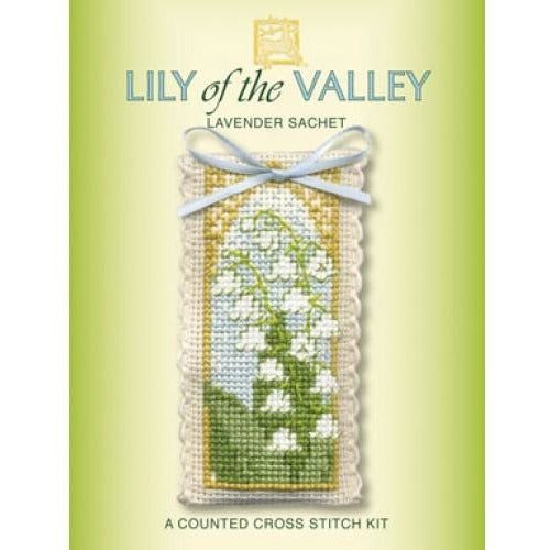 Textile Heritage Lily of the Valley Lavender Sachet Cross Stitch Kit