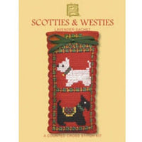 Textile Heritage Scotties & Westies Lavender Sachet Cross Stitch Kit