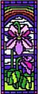 Landmark Tapestries & Charts Stained Glass Miniature Violet Cross Stitch Pattern