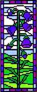 Landmark Tapestries & Charts Stained Glass Miniature Bluebell Cross Stitch Pattern
