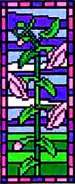 Landmark Tapestries & Charts Stained Glass Miniature Harebell Cross Stitch Pattern