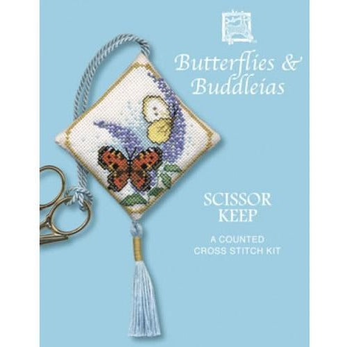 Textile Heritage Butterflies & Buddleia Scissor Keep Cross Stitch Kit
