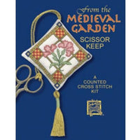 Textile Heritage Medieval Garden Scissor Keep Cross Stitch Kit