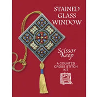 Textile Heritage Stained Glass Scissor Keep Cross Stitch Kit