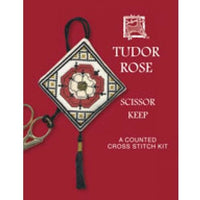 Textile Heritage Tudor Rose Scissor Keep Cross Stitch Kit