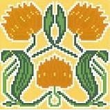 Landmark Tapestries & Charts Arts & Crafts Saffron Pincushion Cross Stitch Pattern