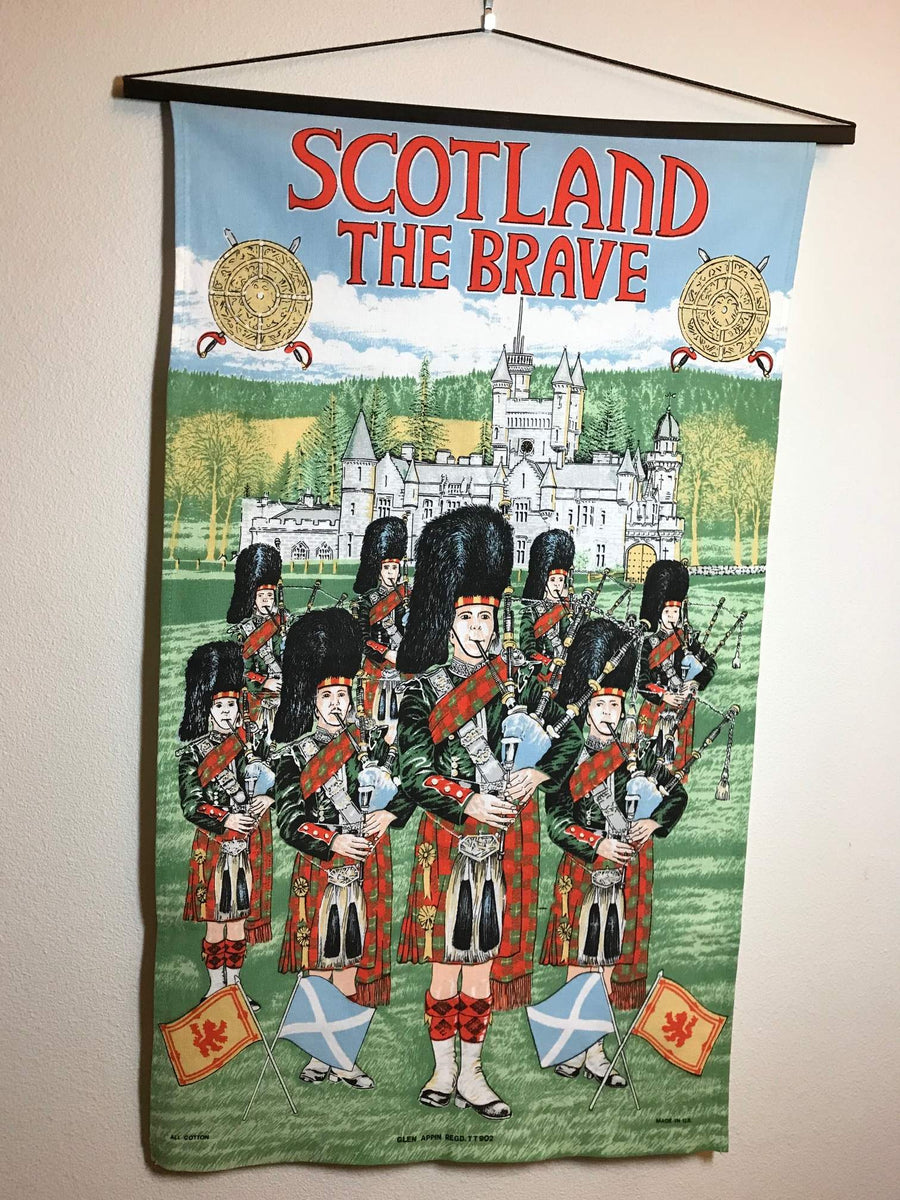 Tea Towel Scotland the Brave