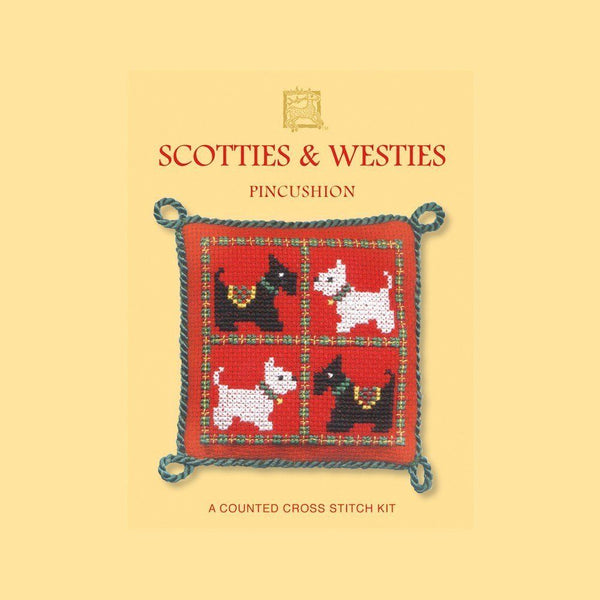Textile Heritage Scotties & Westies Pincushion Cross Stitch Kit