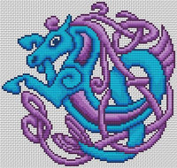 Artists Alley Seahorse Zoomorph Cross Stitch Pattern