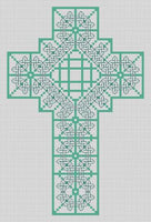 Artists Alley Shades of Green Celtic Cross  -  Cross Stitch Pattern
