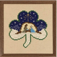 Claddagh Cross Stitch Shamrock Nativity Cross Pattern
