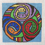 Spin Celtic Spiral Hand Painted Needlepoint Canvases